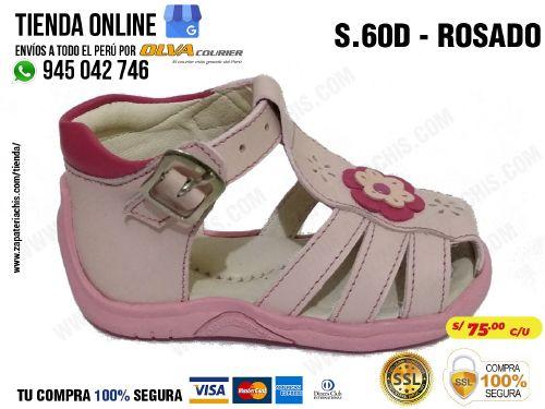 e2221bd12 s60d rosado calzado en cuero para bebe nina