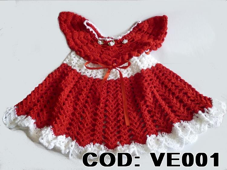 Vestidos rojos tejidos a crochet