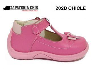 202D CHICLE calzado en cuero para bebé niña
