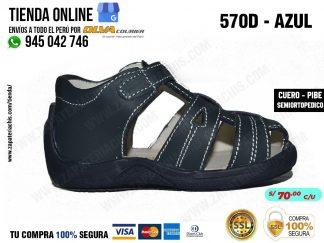 calzado en cuero peruano modelo pibe semiortopedico