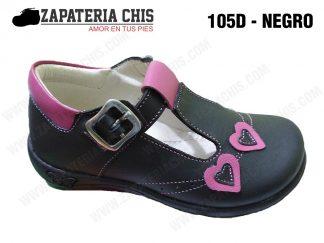 105 - NEGRO 105 - NEGRO calzado en cuero para niña
