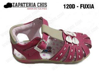 120 - FUXIA calzado en cuero para niña