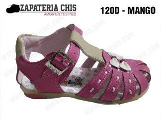 120 - MANGO calzado en cuero para niña