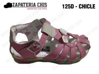 125 - CHICLE calzado en cuero para niña