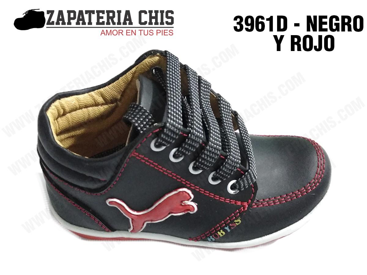 28c2d716 3961 - NEGRO CON ROJO calzado en cuero para niño - Fabricante ...