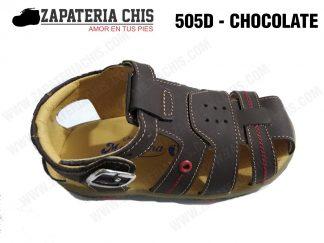 505 - CHOCOLATE calzado en cuero para niño