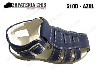510 - AZUL calzado en cuero para niño
