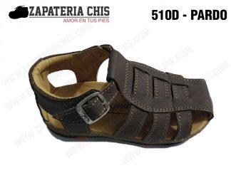 510 - PARDO calzado en cuero para niño