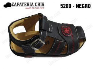 520 - NEGRO calzado en cuero para niño
