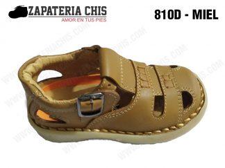 810 - MIEL calzado en cuero para niño