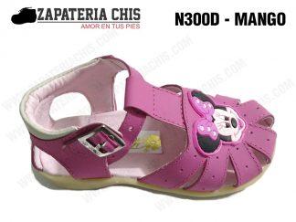 N300 - MANGO calzado en cuero para niña