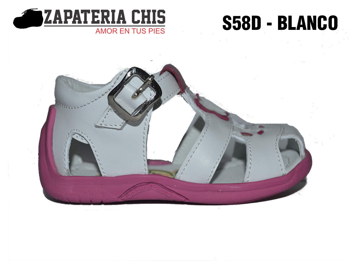 f1028dac S58D BLANCO SANDALIAS calzado en cuero para bebé niña - Fabricante ...