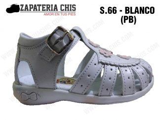 S66 - BLANCO - PB calzado en cuero para niña